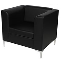 Black Leather Chair - Single Chair hire