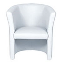 White Leather Armchair hire