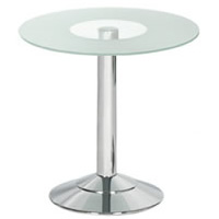 Glass Topped Round Table hire