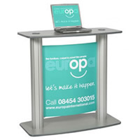 Lecturn Display POD Graphic hire