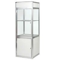 Glass Showcase Cabinet - illuminated/lockable hire