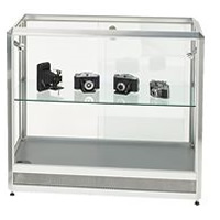 Glass Showcase Cabinet - illuminated & lockable hire
