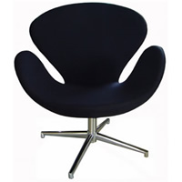 Swan Chair Black hire