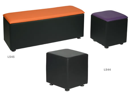 Cube Faux Leather Stool