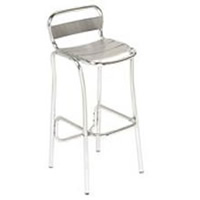 Alfresco aluminium bar stool hire