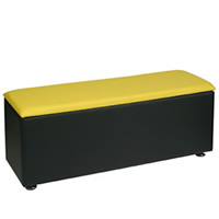 Faux Leather Bench - Colours to order hire