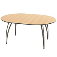 Sol gunmetal oval meeting table (seats 4-6) hire