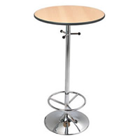 Omega chrome base poseur bar table hire hire