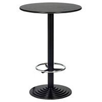 2' Round Black Leg Poseur Bar Table hire