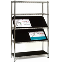 Chrome 5 Shelf Display Stand - Shelves seperate hire