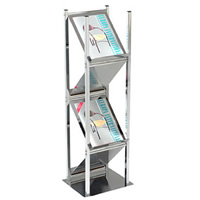 Chrome 4 Sided Literature Rack hire