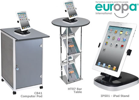 IPAD Registration Stand docking station on hire