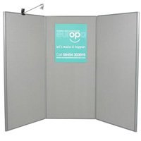 3 Panel Display Boards - lighting separate hire